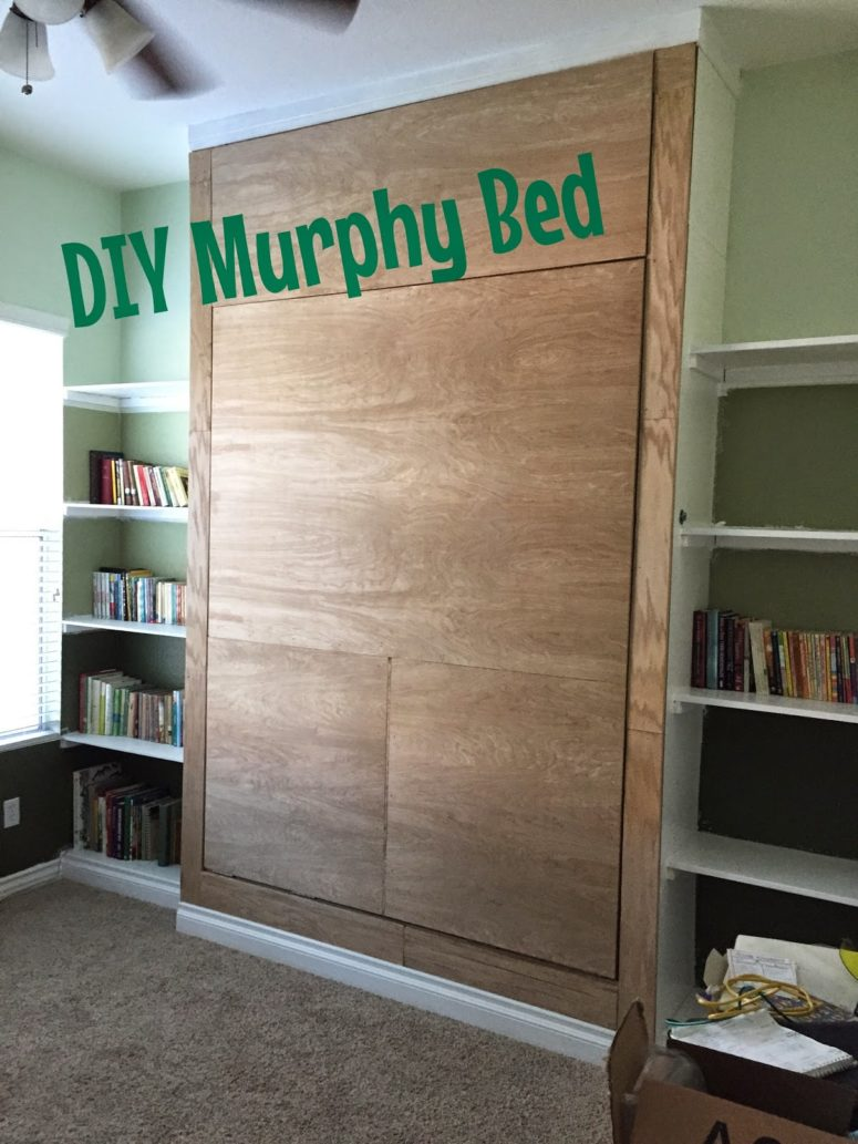DIY wall bed with a rustic look (via junkintheirtrunk.blogspot.ru)