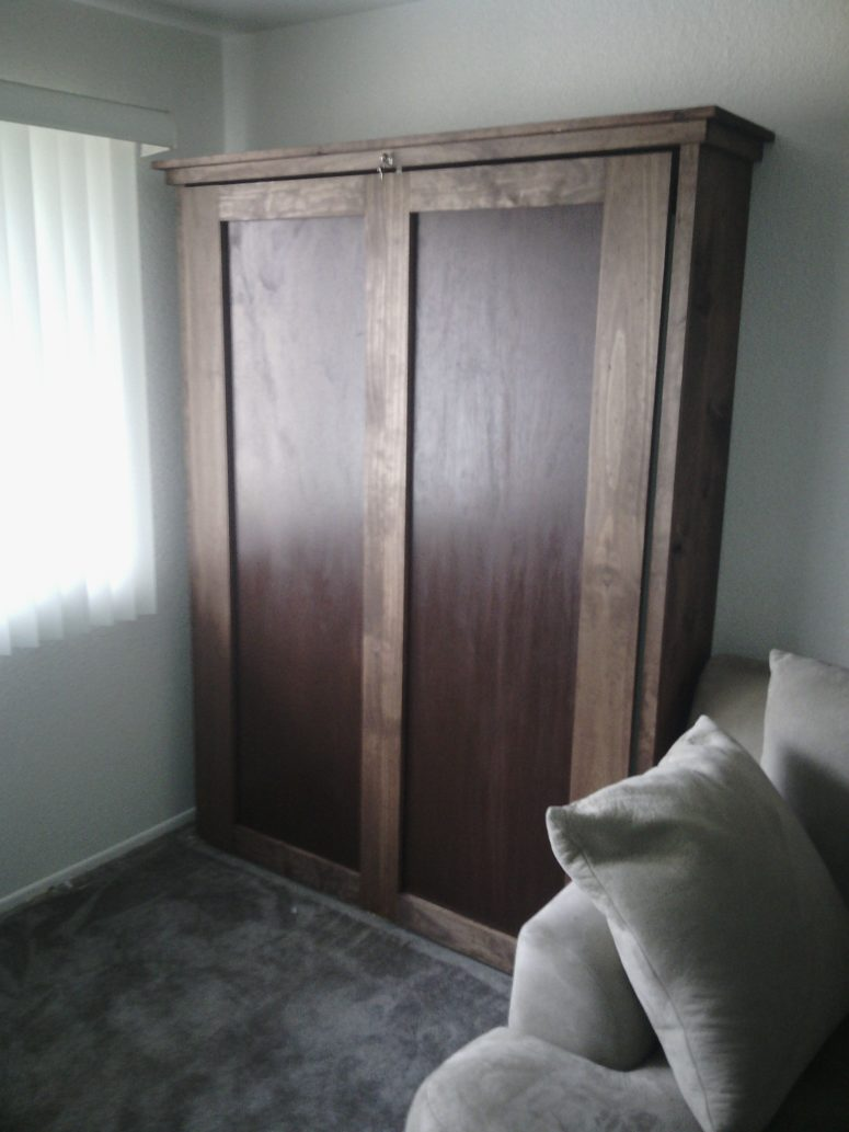 Full Murphy Bed With Desk