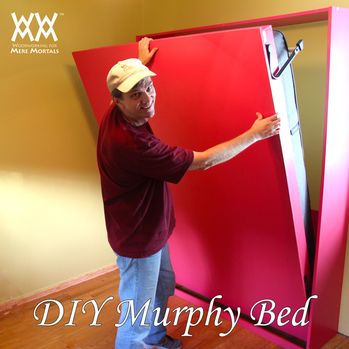 How to build a red murphy bed for a guest room (via woodworking.formeremortals.net)