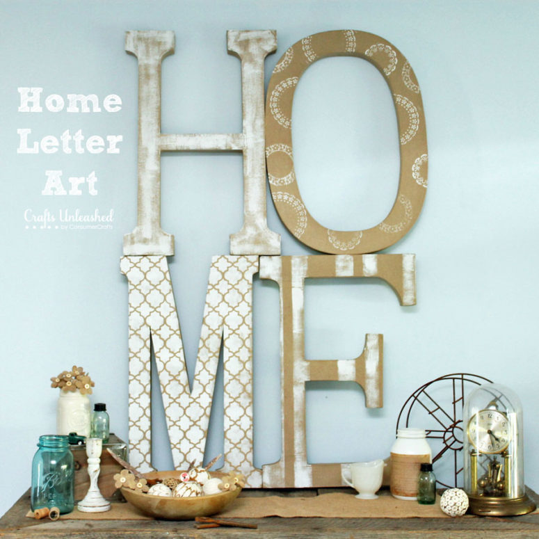 DIY paper mache home art (via blog.consumercrafts.com)