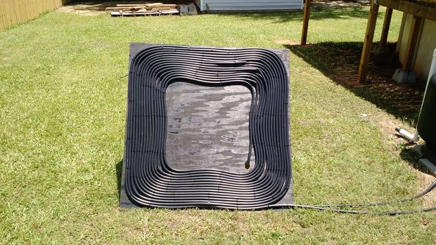 DIY solar pool heater to make (via www.instructables.com)