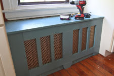 DIY window seat radiator cover