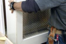 DIY stylish modern radiator cover with a metal sheet