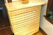 DIY radiator cover from IKEA bed slats