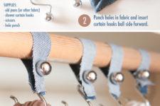 DIY shower hook accessories organizer