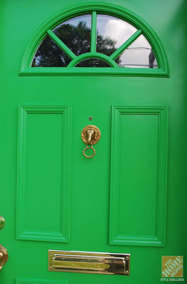 DIY renovated and repainted door (via blog.homedepot.com)