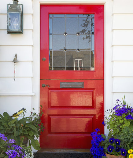 How to paint a door without removing the hardware (via www.realsimple.com)