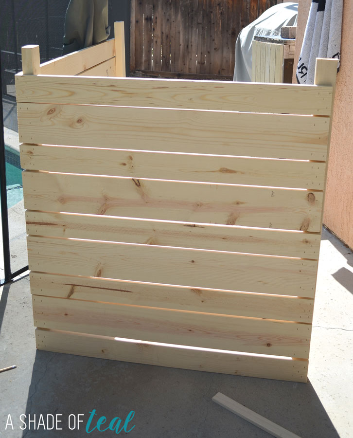 Diy Lumber Box For Pool Equipment And Ac Unit Via Ashadeofteal