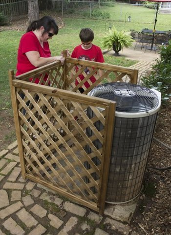 DIY 'Pinteresting' three-side AC unit cover (via www.knoxnews.com)