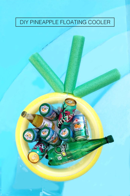 DIY Pineapple floating cooler (via www.drawntodiy.com)