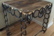 02 barn board and horseshoe table for a rustic interior