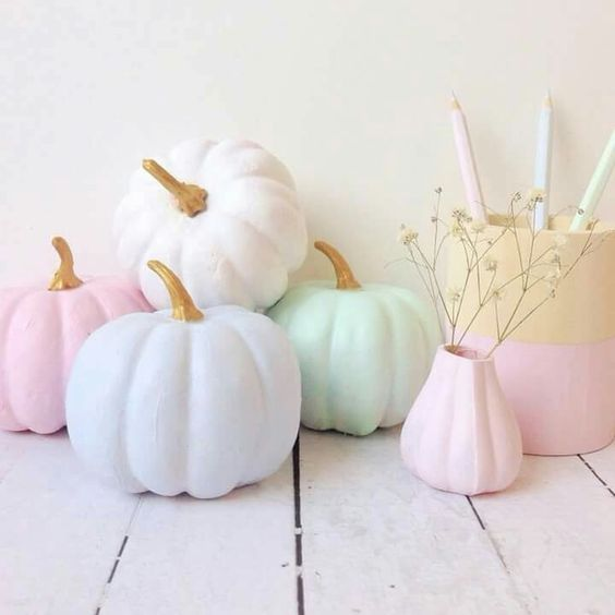 subtle and gentle pumpkins will create a cozy and warm atmosphere