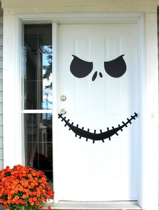 Simple Jack Skellington Door With A Template
