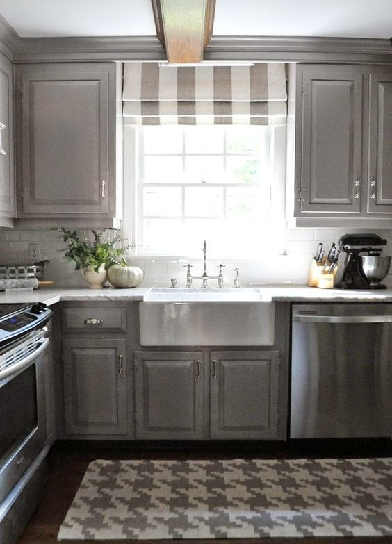 Images Of Kitchens With Gray And White Cabinets
