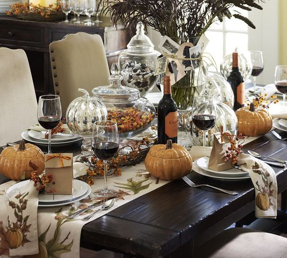 27 cozy and eye catching thanksgiving table settings Decorating thanksgiving table