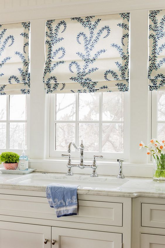 3 kitchen window treatment types and 23 ideas shelterness Types of blinds