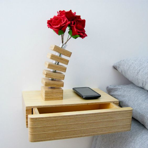 floating drawer bedside table