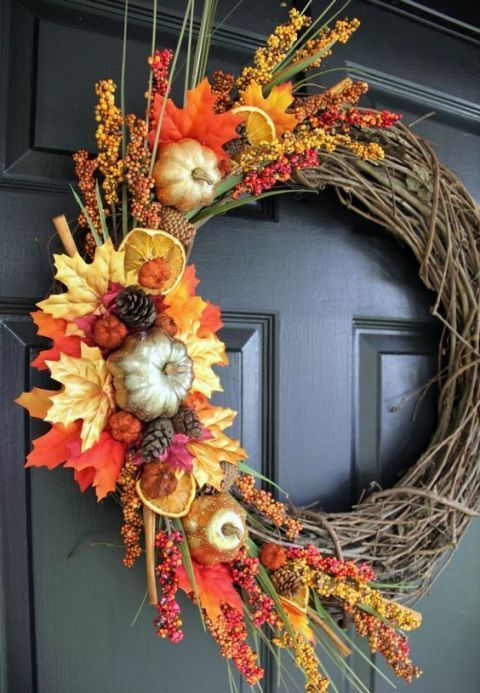 fall gifts make this decoration bold and eye-catchy
