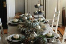 neutral thanksgiving table decor