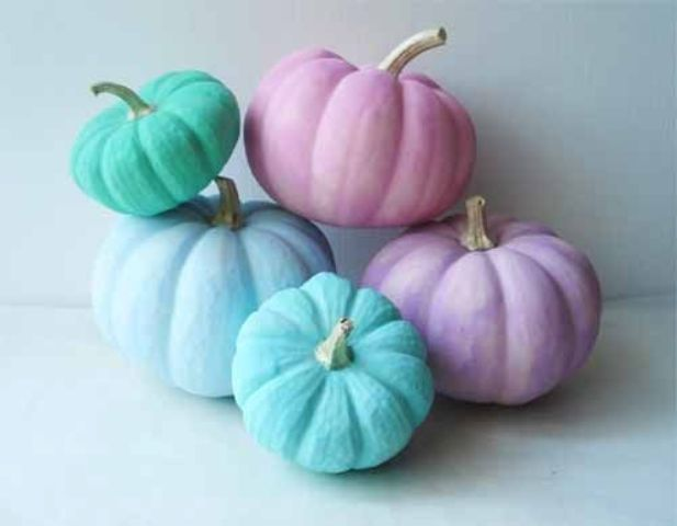 such pastel pumpkins are easy to DIY