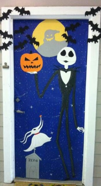 Nightmare before Christmas door decor for Halloween