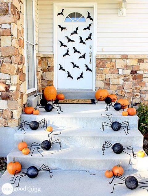 front steps halloween display