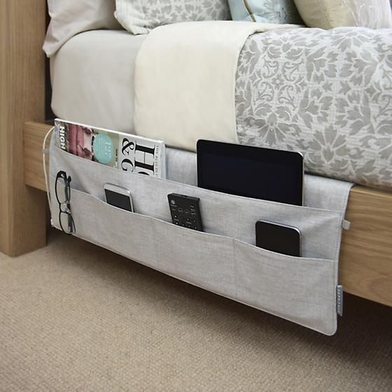 bedside pockets to hang right on the bed