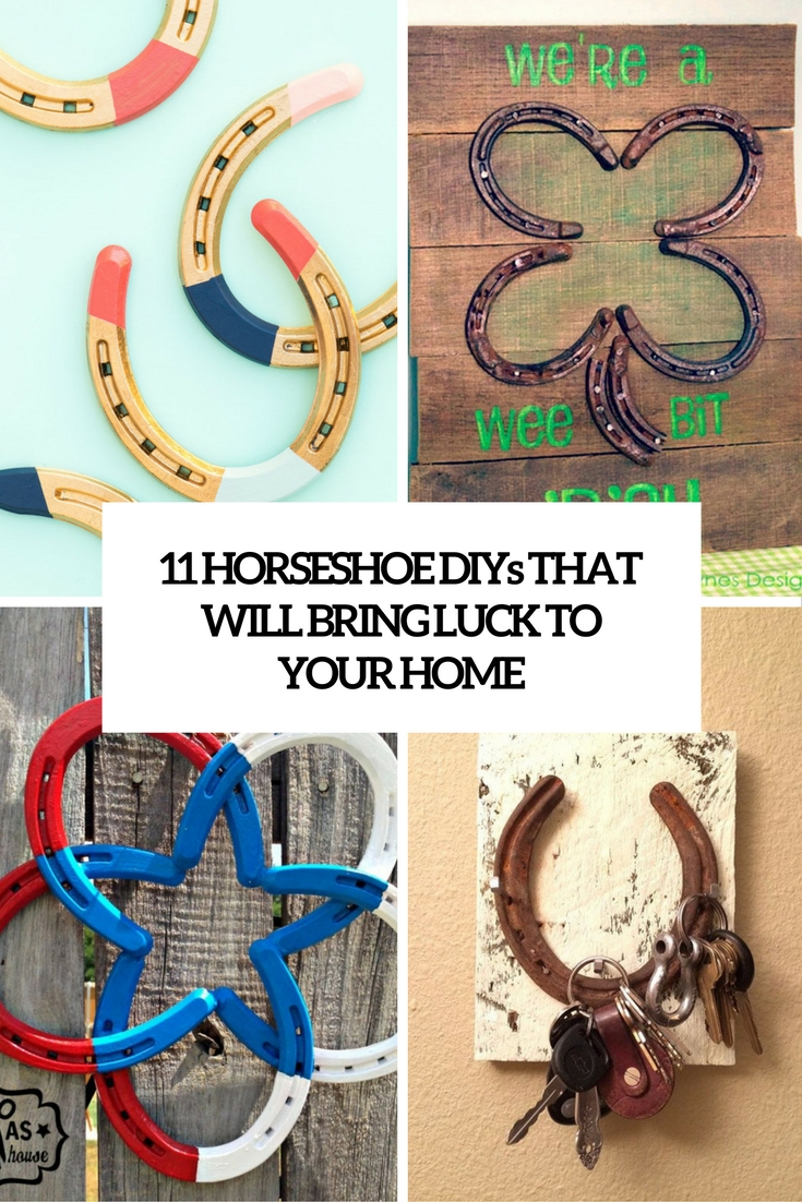 horseshoe diys that will bring luck to your home cover
