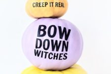 11 pastel pumpkins with fun quotes for an unusual party