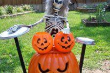 11 skeleton musician with pumpkin instruments