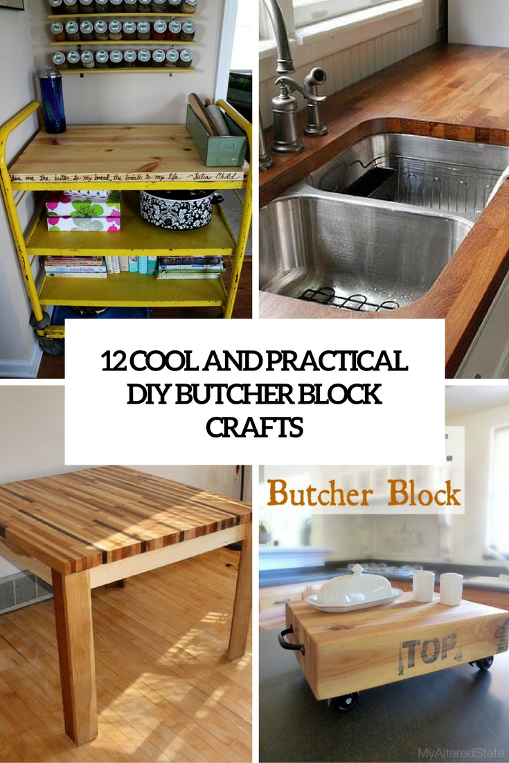 cool and practical diy butcher block crafts cover