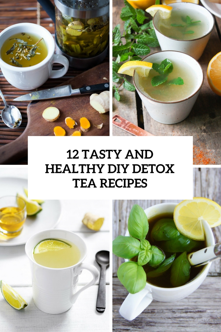tasty and healthy diy detox tea recipes cover