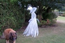 13 chicken wire ghost dressed in cheesecloth