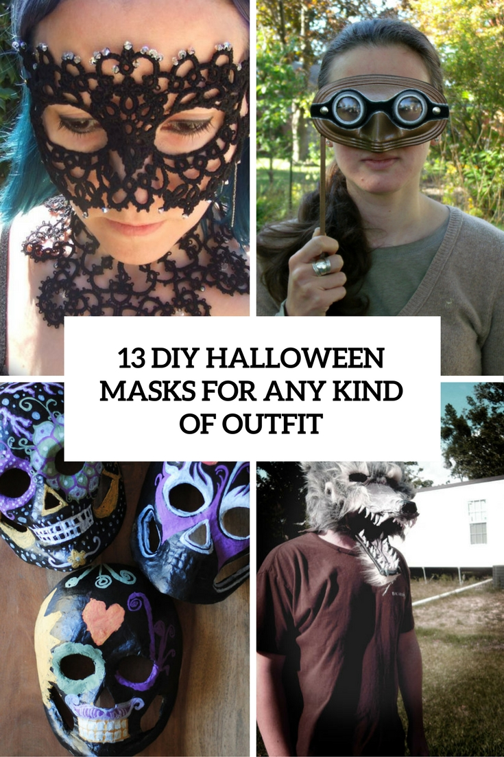 diy halloween masks for any kind of outfit cover