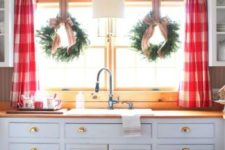 traditional curtains on a kitchen