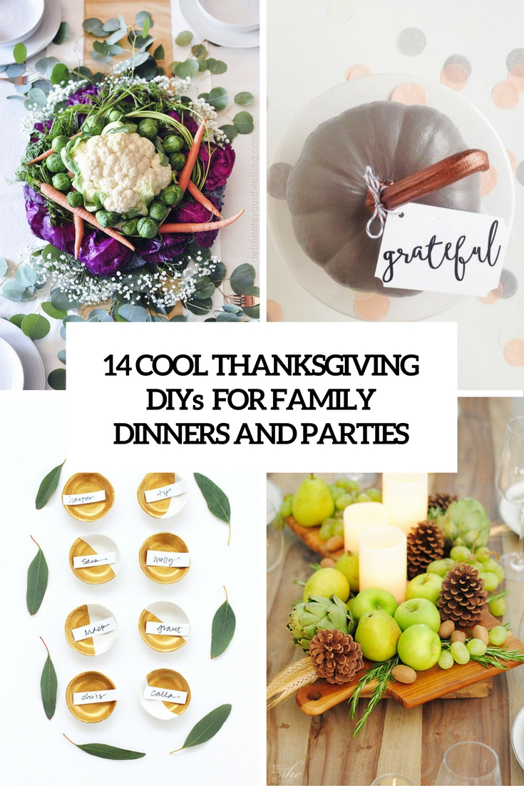 cool thanksgiving diys for family dinners and parties cover