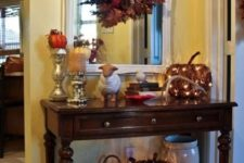 15 vine pumpkins with lights inside for Thanksgiving and fall decor