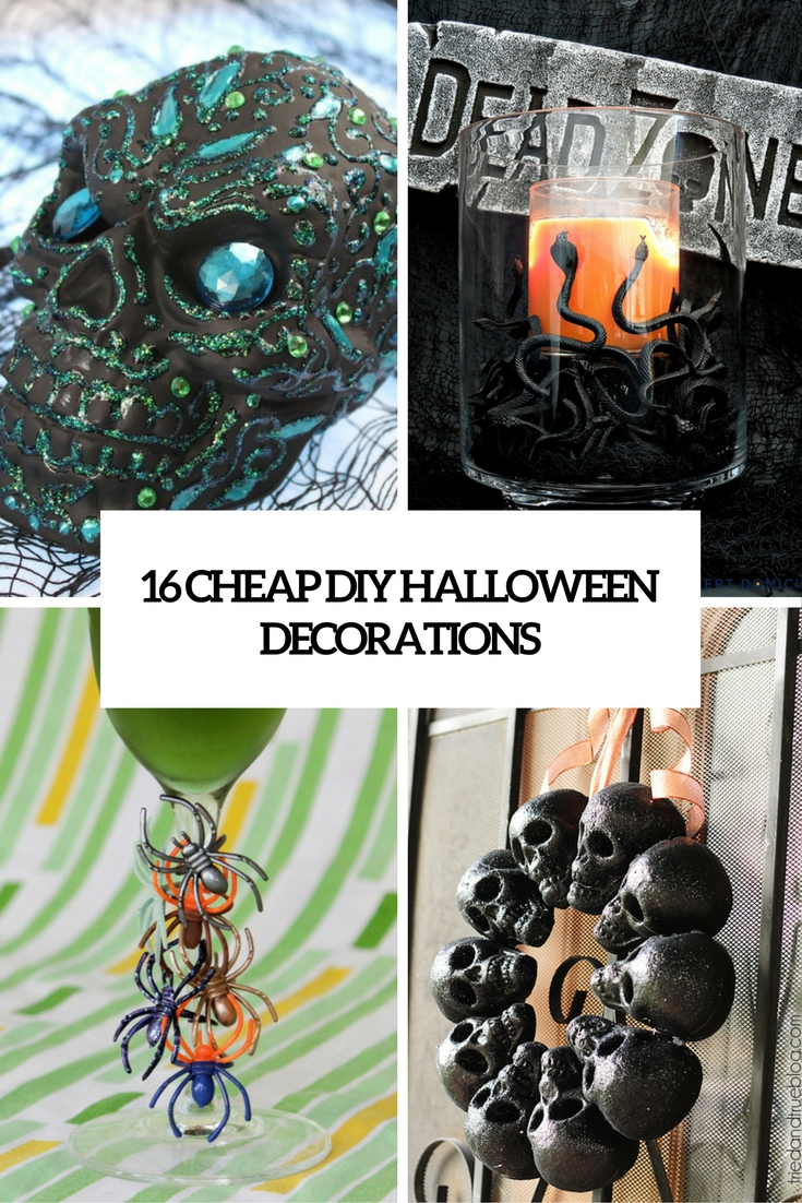 16 cheap diy halloween decorations that won t break the. Black Bedroom Furniture Sets. Home Design Ideas
