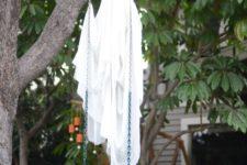 ghost halloween outdoor decor