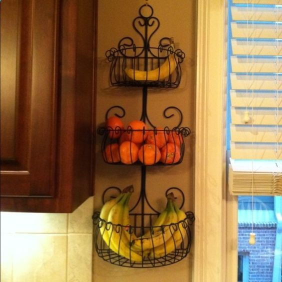 a garden wlal planter for fruit storage on the wall