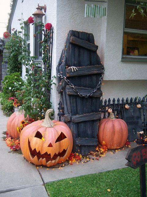 coffin standing in your garden or on your porch