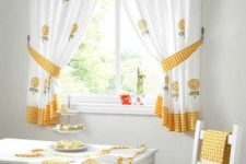 19 rustic kitchen curtains and complementing kitchen textiles