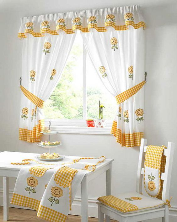 rustic kitchen curtains and complementing kitchen textiles