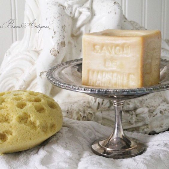 vintage silver compote makes a fabulous soap holder