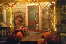 20 light up your porch for fall with usual Christmas lights