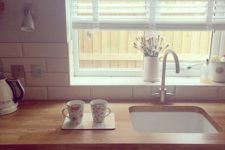 20 usual blinds are a perfect kitchen window treatment