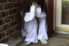 21 crying scary child sitting on your front porch will frighten trick-or-treaters