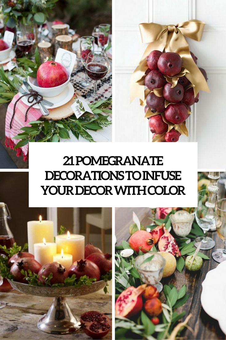 pomegranate decorations to infuse your decor with color cover