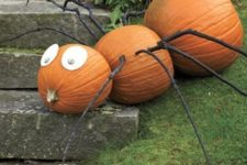 22 giant pumpkin spider with branches as legs