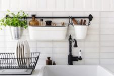 22 make the most of a tiny counter with a wall-mounted sink caddy
